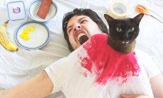 Lõbusad PILDID: Mees ja tema kass taasloovad kuulsaid filmistseene