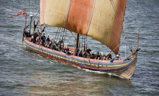 Rekonstrueeritud viikingilaev, ehitatud laeva järgi, mille viikingid valmistasid 11. sajandil Dublinis.