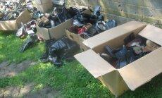 Kasutatud riiete jagamise päev Tori sotsiaalmaja hoovis