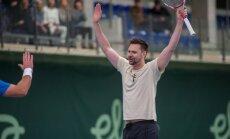 Robin Söderling esines nädal tagasi Eesti publikule Tere tennisekeskuses näidismatšil.