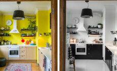 Helen Sürje suur maalritöö: Köök sai šiki kujunduse — kollasest must-valgeks