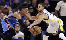 VIDEO: Westbrook tegi 21. kolmikduubli, kuid Thunder kaotas Warriorsile