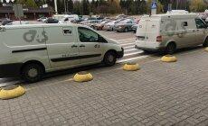 Sularahakeskuse autod parkimas Rocca Al Mare keskus