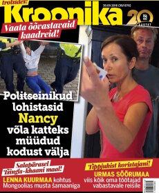 KROONIKA VIDEO: Politseinikud lohistasid lauljatar Nancy võla katteks müüdud kodust välja