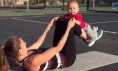 VIDEO: Eeskuju värsketele emmedele! Kui oma ilusat figuuri tagasi tahad, siis on aeg beebiga võimlema hakata