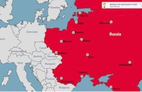 Venemaa jalgpalli MMi kaart
