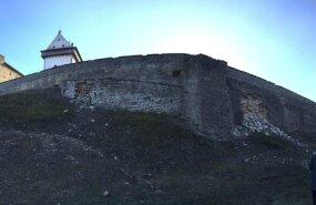 Обрушилась облицовка северной стены Нарвского замка