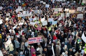 25. oktoober 2011. Õpetajate meeleavaldus – 1500 osalejat