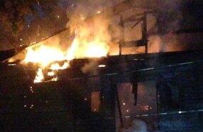 Kopli liinidel põleb taas mahajäetud hoone