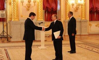Putin suursaadikute volikirjade üleandmisel: piirilepingute jõustumine võiks kaasa aidata usalduse tõstmisele riikide vahel