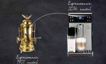 Espressomasina ajalugu: metalltünnist nutimasinani