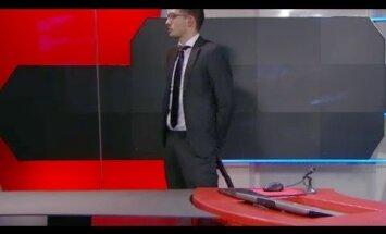 VIDEO: Püstoliga mees nõudis keset Hollandi rahvusringhäälingu uudistesaadet eetriaega