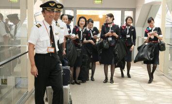 Jaapani esimese tšarterlennu saabumine