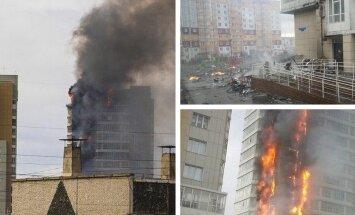 VIDEOD: Siberis lahvatas leekidesse 25-korruseline hoone