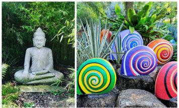 Säti aed skulptuuride ja kujudega omanäoliseks