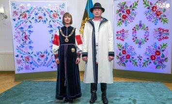 President Kersti Kaljulaid ja härra Georgi-Rene Maksimovski