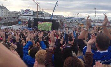 LUGEJATE FOTOD JA VIDEOD: Islandlased elasid oma jalkameeskonnale kaasa emotsioone varjamata, sisuliselt terve riik oli tulnud tänavatele!