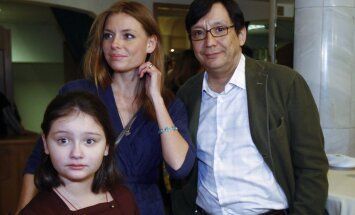 Yegor Konchalovsky with family