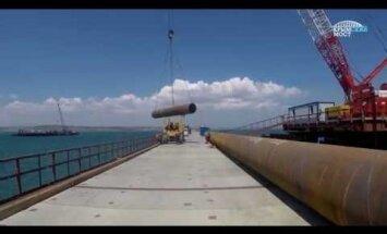 Опубликовано видео со стройки Крымского моста