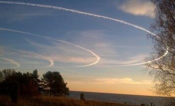 FOTO: Tõstamaa kandis on mere kohal taevas müstilised ringid