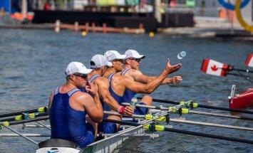 Rio olümpia sõudmise paarisaerulise neljapaadi eelsõit.