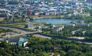 Tallinna kohal lennates mai 2016