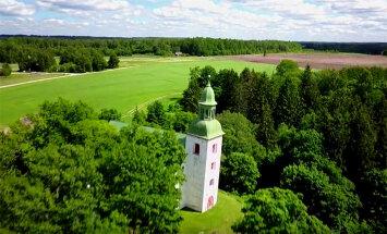 VIDEO: Kus asub Eesti kõige viltusem kirikutorn? Vaata järele!