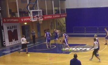 VIDEO: BC Tartu mängija sai korvpalli esiliigas hakkama vägeva pealtpanekuga
