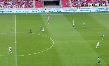 VIDEO: Praha Slavia saatuslikud kaks väravat FC Levadiale