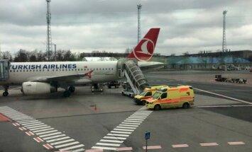 Turkish Airlinesi lennuk Tallinna lennujaamas