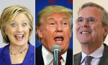 Hillary Clinton, Donald Trump, Jeb Bush