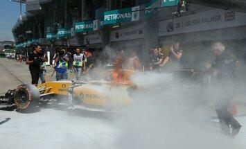 VIDEO ja FOTOD: Renault vormel läks Malaisia GP vabatreeningul põlema!