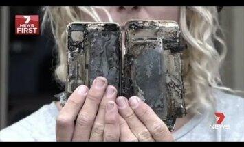 Mitte vaid Samsung: surfar Austraaliast väidab, et ta uus iPhone 7 süttis ise ja põletas pükse ning autot