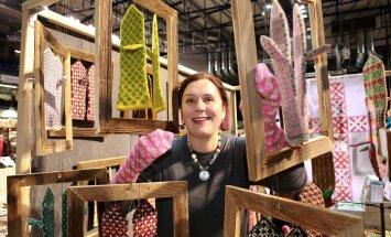 Jõulukingiideid aitas Mardilaadal valida Liina Veskimägi-Ilste.
