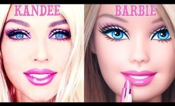 VIDEO: Vaata, kuidas see naine end 90 sekundi jooksul Barbie'ks muudab