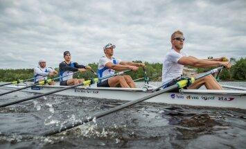 Eesti paarisaeruline neljapaat treenib Pärnu jõel Rio olümpiaks