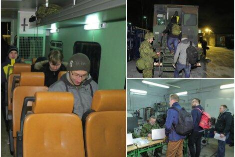 DELFI FOTOD ja VIDEOD: Reservväelased kogunesid vaid 24-tunnise etteteatamisega välkõppuseks: plaanid tuli ringi teha, aga saabki rutiinist välja