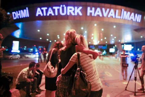 APTOPIX Turkey Airport Blasts