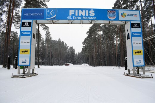 Tartu Maratoni finiš Elvas 18. jaanuaril