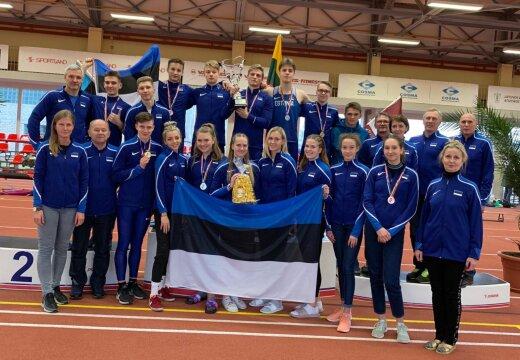VIDEO | Noorte mitmevõistluse Balti matši võitis Eesti koondis, Eerik Haamer parandas teivashüppes noorterekordit