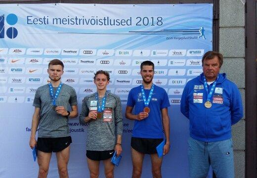 10 000 meetri jooksus krooniti Eesti meistriks Mark Abner ja Kaisa Lepik
