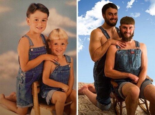 Õed ja vennad taaselustavad vanu fotosid