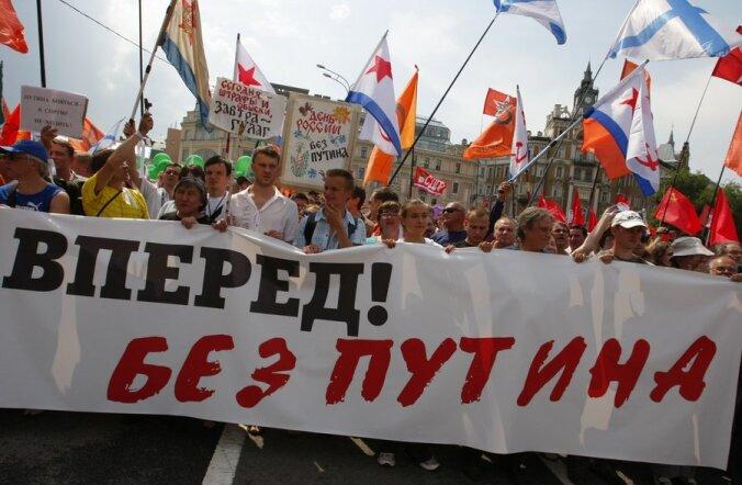 Moskva miitingul võeti vastu Putini tagasiastumist nõudev manifest