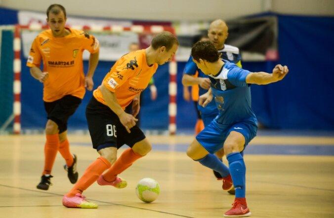 Eesti saalijalgpalli superkarikas Narva United vs Cosmos