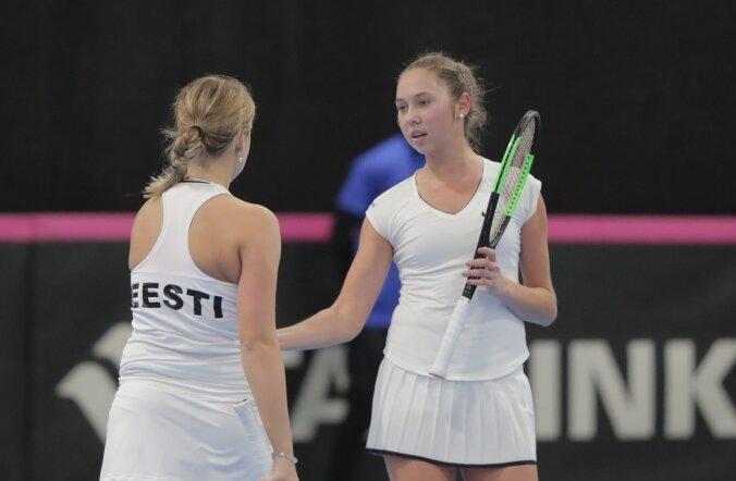 ФОТО: Эстонские теннисистки победили в Кубке Федерации Болгарию