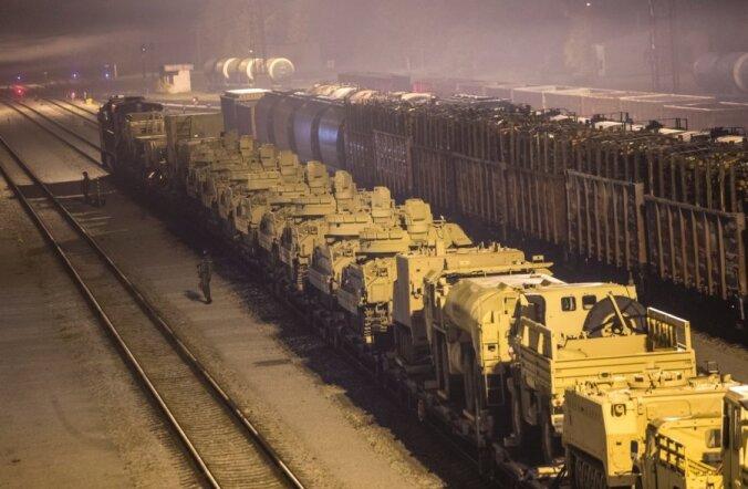 USA sõjaväe masinad Valgas