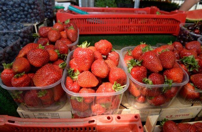 mai lõpus müüdavad importmaasikad Nõmme turul