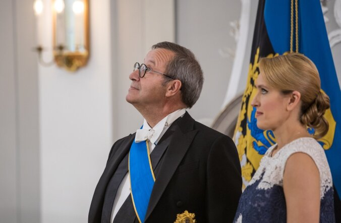 President Kersti Kaljulaidi ja president Toomas H. Ilvese vastuvõtt