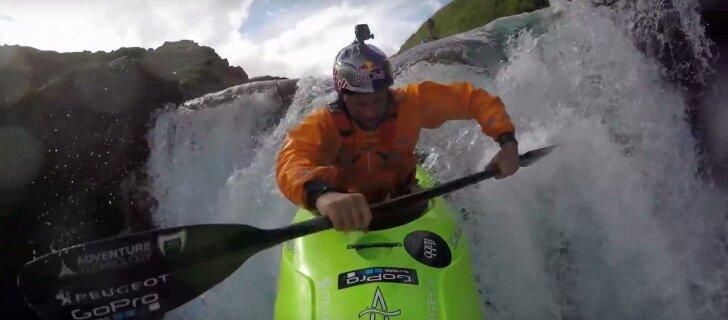 VIDEO: hulljulge seiklus Islandil - kajakiga kargetest jugadest alla