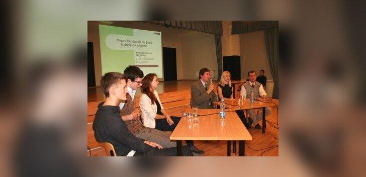 """10.-12. klasside õpilaste foorum """"Mida tähendab olla Eesti kodanik?"""""""